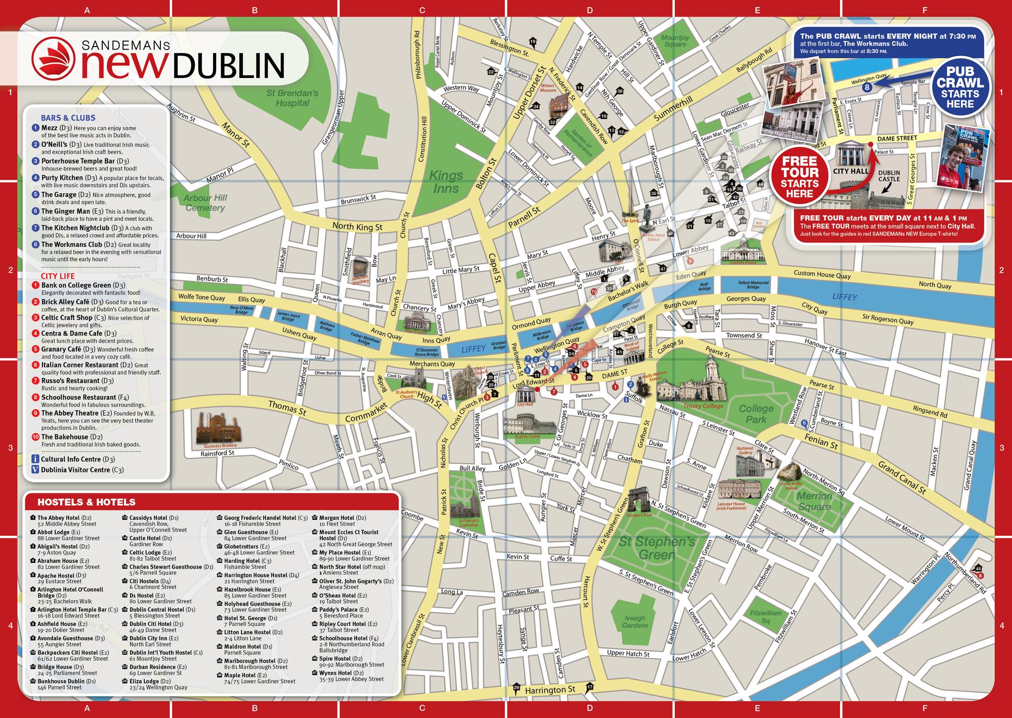 Excursiones Dublin Mapa